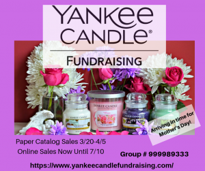 Spring Fundraiser- Yankee Candle